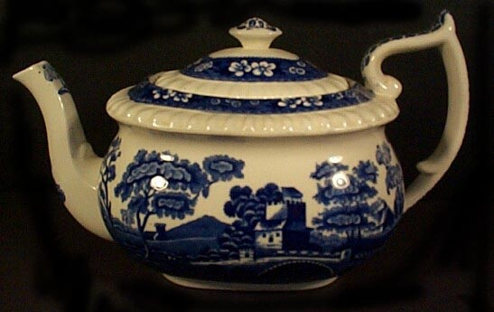 Spode Blue Tower Teapot