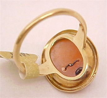 Cameojewelryantiquevictorianvintagelafayette 10k gold cameo habille ring size 55 19500 space 18 inv 1039 aloadofball Images