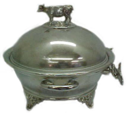 ... Victorian Silverplate Butter Dish w/ Cow Finial ...  sc 1 st  MyAntiqueMall.com & Victorian Tableware