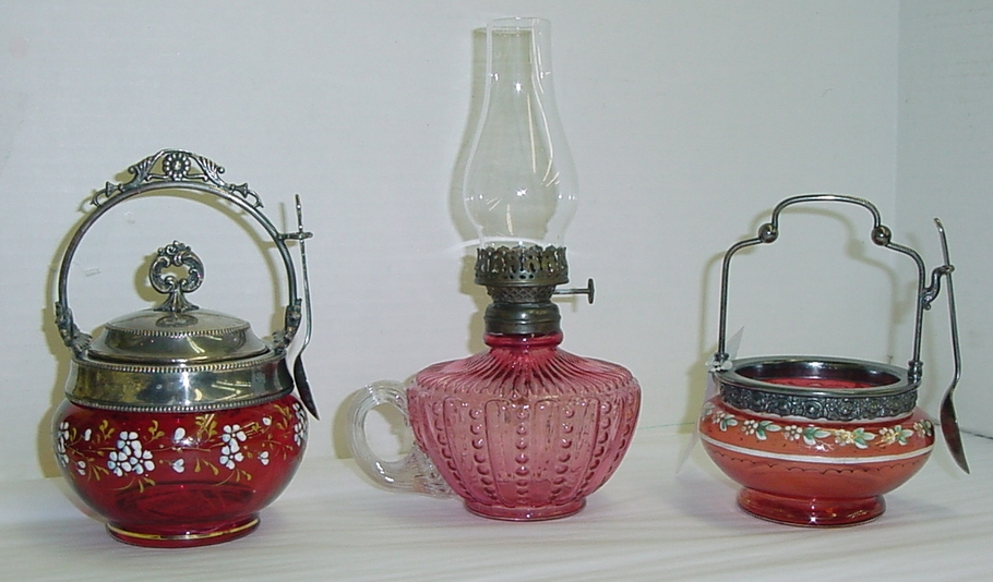 Cranberry Victorian Glass
