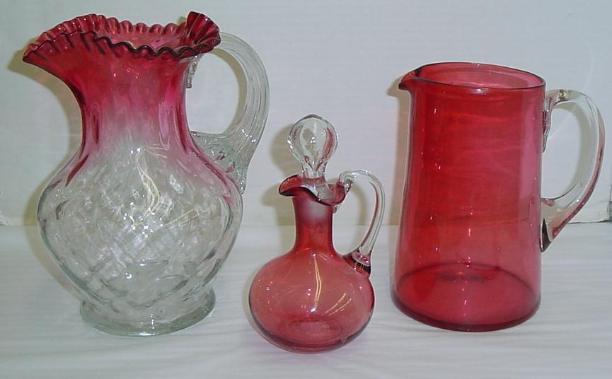 Cranberry Victorian Glass