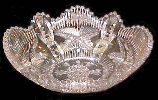 Libbey Cut Glass Bowl