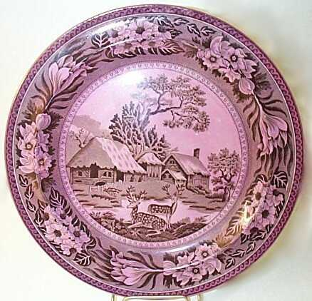 Wedgwood Mulberry Lustre Fallow Deer Plate