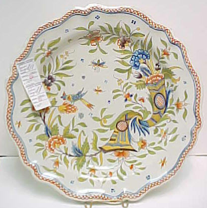 French Faience Plate- Unmarked (Not Quimper)