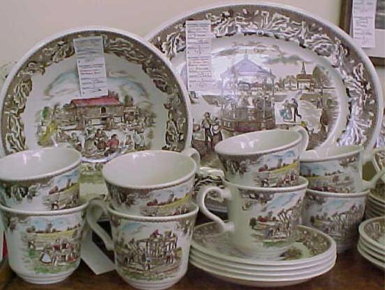 c.1880u0027s German Meissen Figurines Johnson Brother Dinnerware & mamarchivepage24