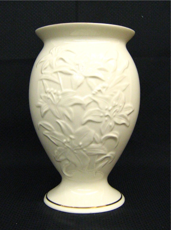 lenox vases vintage. lenox - lilly pattern large flower vase with flared top, 8 inches tall, space 2, inventory d 287, 18.50 vases vintage